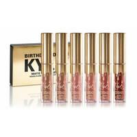 Набір рідких губних помад Kylie Birthday Edition Gold Мікс кольорів