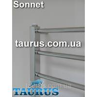 Модерний полотенцесушитель Sonnet 8/750х400 з н/же: пряма кругла перемичка 16мм і квадратна стойка 30х30