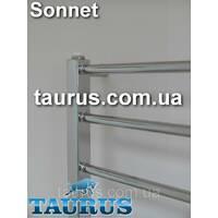 Крихітний полотенцесушитель Sonnet 4/400х400 з круглою перемичкою 16мм  квадратною стойкою 30х30. Україна