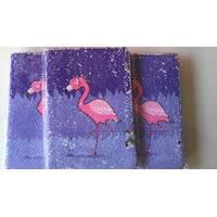 Блокнот в клетку Фламинго(паетка)