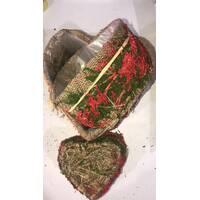 Подарочные коробки из натуральных трав в виде сердца и мешковины(3 шт.)