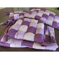 Бортики у ліжечко і ковдрочка. Фіалка + рожевий