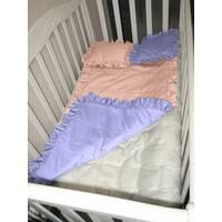 Комплект Baby Flap двусторонний. Детское одеяло - покрывало с рюшей в наборе с 2 подушками.