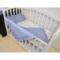 Комплект однотон Baby Flap. Детское одеяло - покрывало с рюшей в наборе с 2 подушками. в 5 цветах
