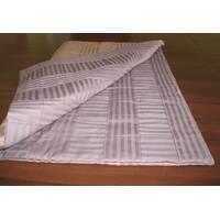 Мягкий лоскутный коврик для сна и игр. Двусторонний в полоску