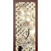 3D двері Білі троянди 9247, 80х200 см