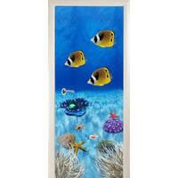 3D двери Тропические рыбки 8495, 80х200 см