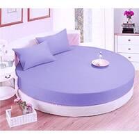 Круглая простынь на кровать Модель 2 Сиреневая