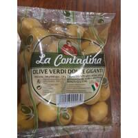 Оливки зеленые большие Contadina с косточкой 500 гр Италия