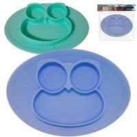 Силиконовая детская тарелка 27х19, 6х2 см Совушка Snt 3200-45
