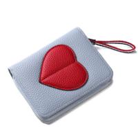 Женский кошелек BAELLERRY Ladies Wallet кожаное портмоне на молнии Голубой