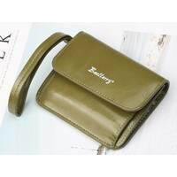 Женский кошелек BAELLERRY Young Small кожаное портмоне на кнопке Зеленый (1052)