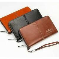 Мужской клатч портмоне  Baellerry Italia Leather (Лизер) коричневый