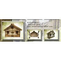 """Подарочный деревянный сувенирный набор """"Настенная Ключница Дом большой"""" ручной работы"""