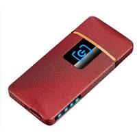 Зажигалка SUNROZ S1802 портативная электронная аккумуляторная USB зажигалка Красный