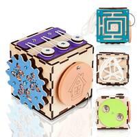 Бизикуб BrainUp Smart Busy Cube настольная развивающая игра кубик из 6 деталей 10*10 см (6007_1)