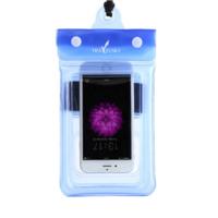 Чехол водонепроницаем для мобильных телефонов TRAVELSKY с ремешком 20.5*10см Голубой (3483)