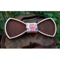 Деревянная бабенка галстук Ободок Сова ручной работы, серия Fantasy