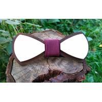 Деревянная бабенка галстук Марсала - Беж ручной работы, серия Fantasy