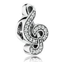 """Шарм бусина Pandora (Пандора) """"Скрипичный ключ"""""""