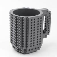 Чашка-конструктор SUNROZ з деталями в комплекті 350 мл Сірий (3778)