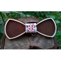Деревянная бабенка галстук Ободок Цветы - 2  ручной работы, серия Fantasy