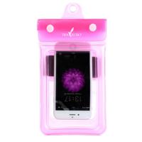 Чехол водонепроницаем для мобильных телефонов TRAVELSKY с ремешком 22*11см Розовый (3486)
