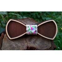 Деревянная бабенка галстук Ободок Цветы ручной работы, серия Fantasy