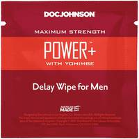 Пролонгуюча серветка Doc Johnson Power  Delay Wipe For Men з  екстрактом йохимбе