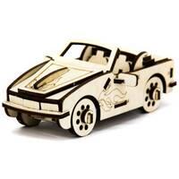 Механический деревянный 3D пазл SUNROZ Автомобиль Кабриолет BMW 40 эл.