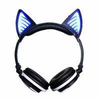 Наушники LINX BL108A Bluetooth наушники с кошачьими ушками LED Черные