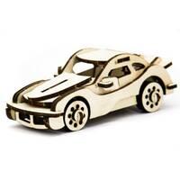 Механический деревянный 3D пазл SUNROZ Автомобиль Porsche 43 эл.