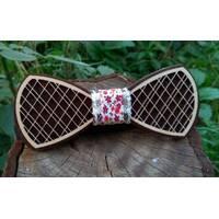 Деревянная бабенка галстук Орнамент Цветы - 2 ручной работы, серия Fantasy