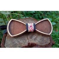 Деревянная бабенка галстук Ободок Цветы - 3 ручной работы, серия Fantasy