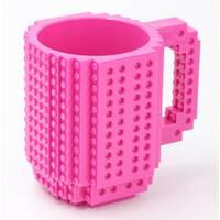 Чашка-конструктор SUNROZ з деталями в комплекті 350 мл Рожевий (3782)