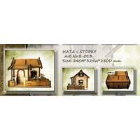 """Подарочный деревянный сувенирный набор """"Мини-бар Хата и стопки"""" ручной работы"""