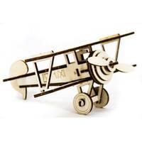 Механический деревянный 3D пазл SUNROZ Самолет Ньюпорт 30 эл.