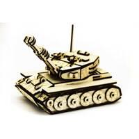 Механический деревянный 3D пазл SUNROZ Танк М-60 105 эл.