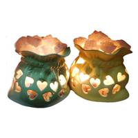 """Соляной светильник 2-го уровня Мешочек счастья керамика (2,4 кг) """"Ваше Здоровье"""""""