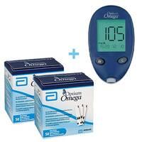 Глюкометр Optium Omega + 100 тест-полосок (ABBOTT, США)