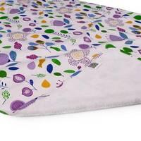 Пелюшка двостороння Eco Cotton, що не промокає, р.65х90 см Фуксія, квіти Ач Пупс
