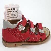 Дитячі ортопедичні босоніжки для дівчаток Mimy арт.L 001, мод.025-17-00, (Туреччина)