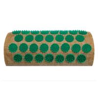 Полу-валик массажно-акупунктурный Lounge 24х11х6 см (зеленые фишки) OnhillSport