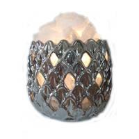 """Соляной светильник 2-го уровня Ананас керамика ( 3,4 кг ) """"Ваше Здоровье"""""""