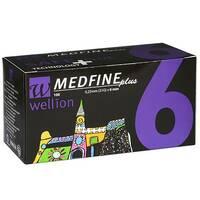 Універсальні голки Wellion MEDFINE plus для інсулінових шприц-ручек 6мм ( 31g x 0,25 мм)