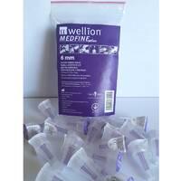 Універсальні голки Wellion MEDFINE plus для інсулінових шприц-ручек 6мм ( 31g x 0,25 мм) 20 шт