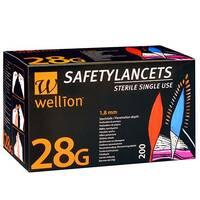 Безпечні ланцети Wellion Calla 28g, 200 шт.