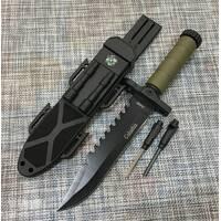 Охотничий нож Colunbia с огнивом и компасом 32см / 2548В