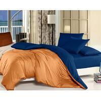 Комплект двустороннего постельного белья Оранжевый + Синий