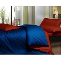 Комплект двустороннего постельного белья Синий +  Винный